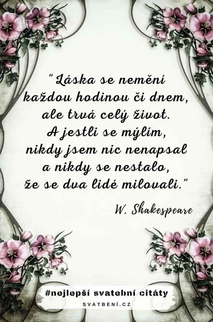 Svatební citáty – Wiliam Shakespeare