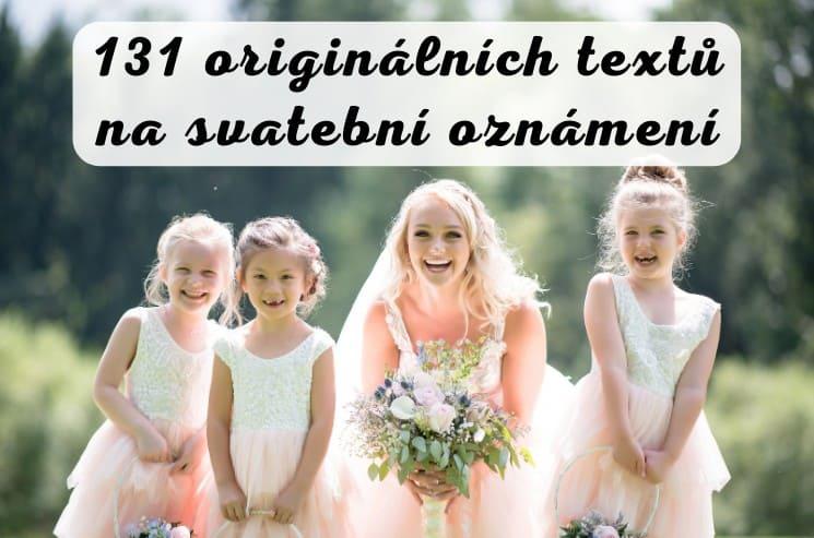 131 tipů na originální texty na svatební oznámení