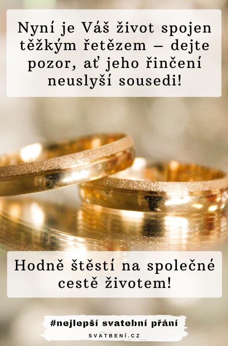 Vtipná svatební přání
