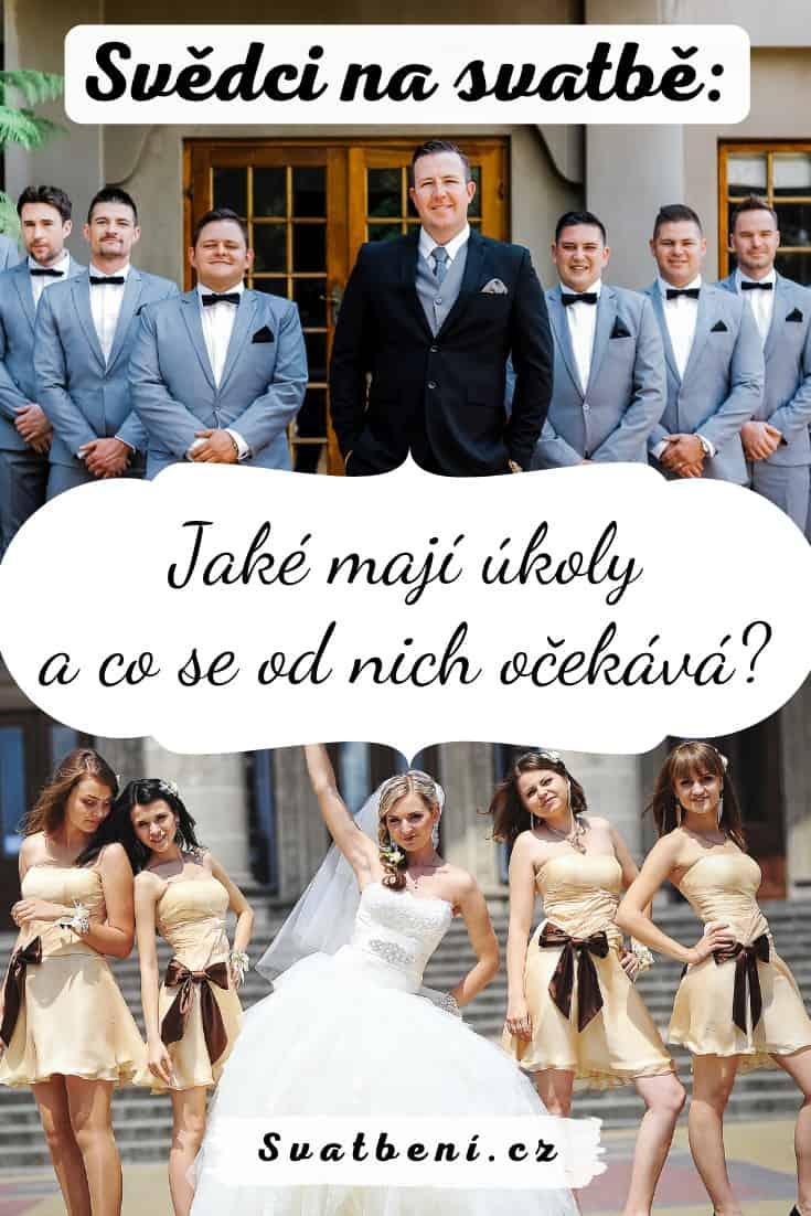 svědci na svatbě
