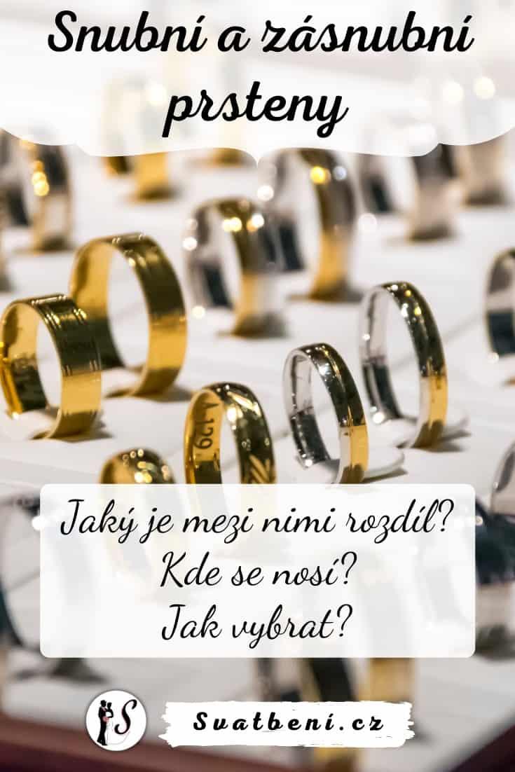Snubní a zásnubní prsteny